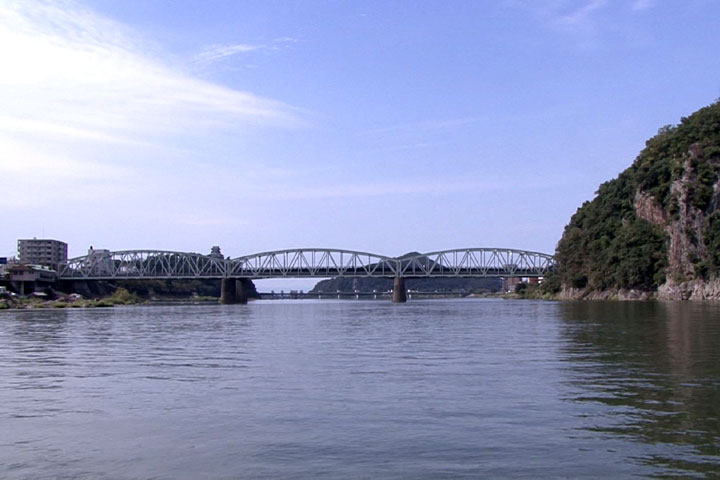 名鉄犬山線の鉄橋