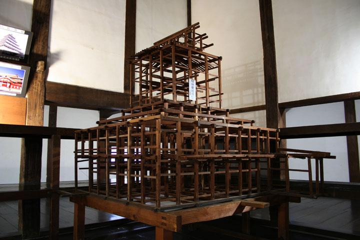 犬山城骨組み(2階)