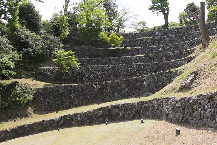 The ruins of Toba Castle