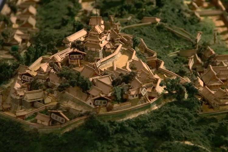 The scale model of Toba Castle