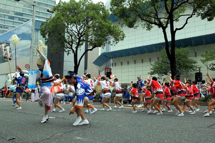 阿波踊太閤連の踊り
