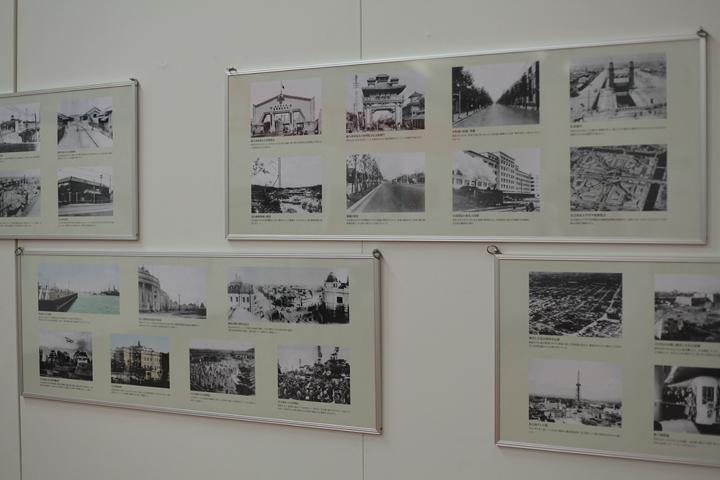 名古屋の町並みの変遷を紹介する写真パネル
