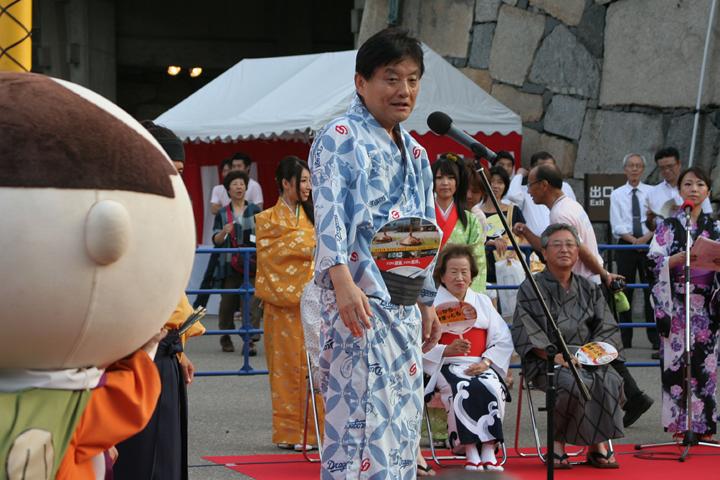 開会の挨拶をする河村たかし名古屋市長