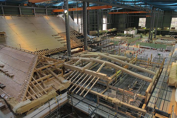 下御膳所第2期工事箇所(2012年11月3日)