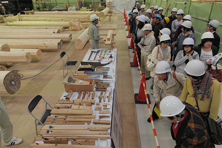 復元工事 現場見学会(2012年11月3日)