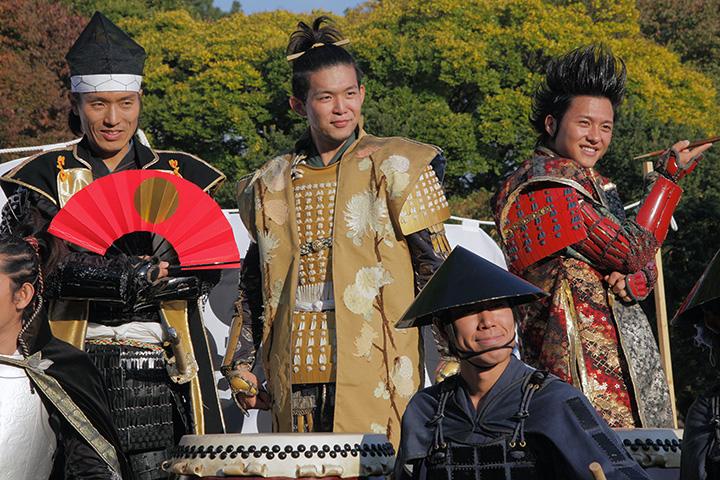 左から徳川家康、前田利家、前田慶次