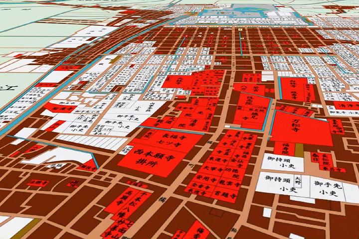 江戸時代後期の南寺町周辺地図(大須付近)