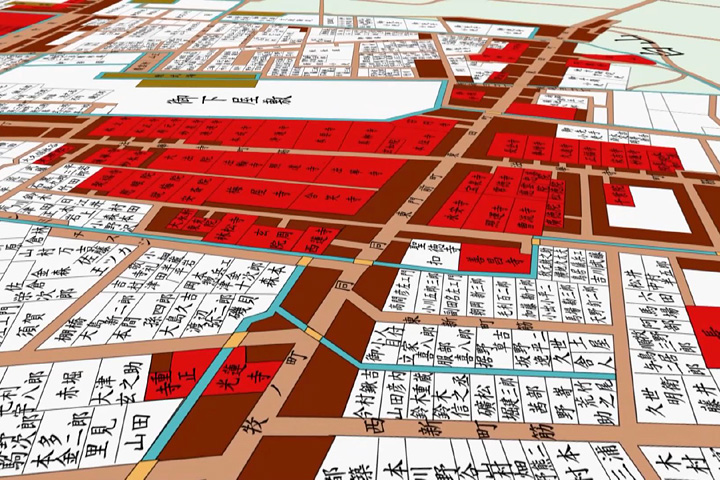 江戸時代後期の東寺町地図