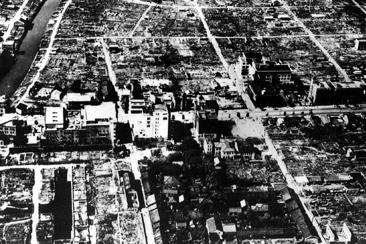 焼土と化した名古屋市内中心部
