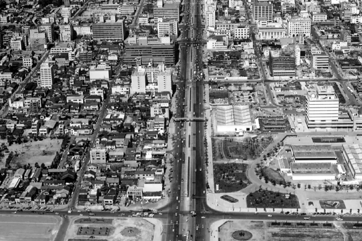 白川公園付近(昭和30年代終わり)