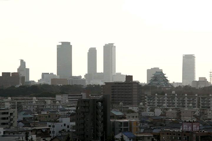 現代の名古屋駅方面