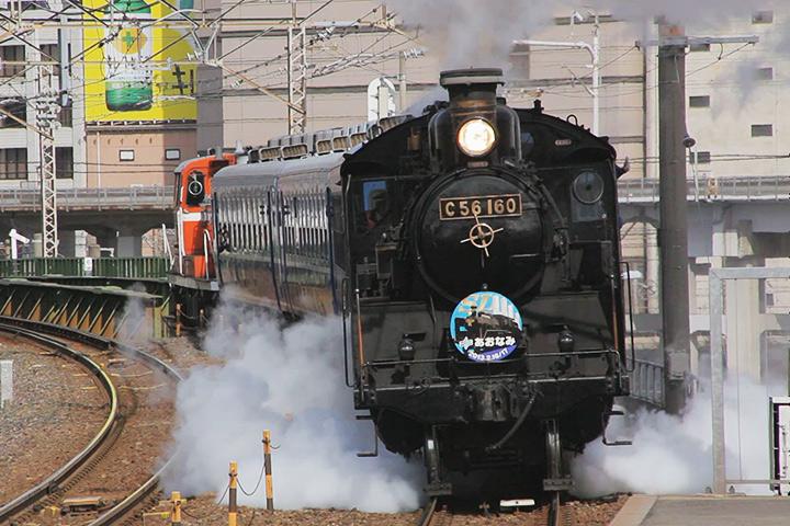 ささしまライブ駅ホームから見たC56
