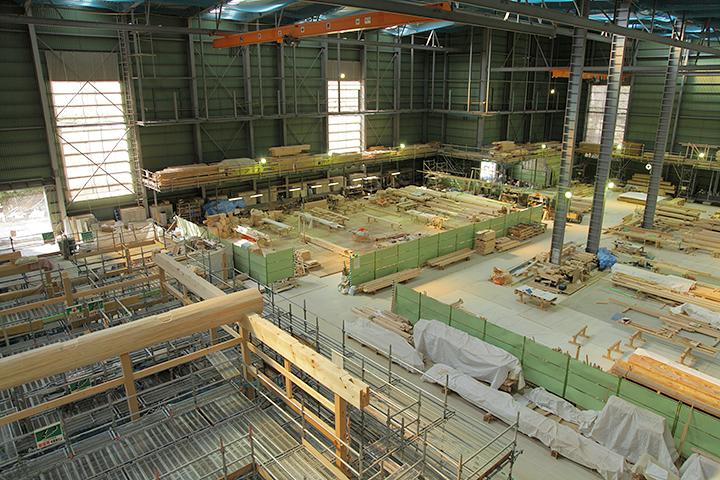 第3期部分を使った木材加工場