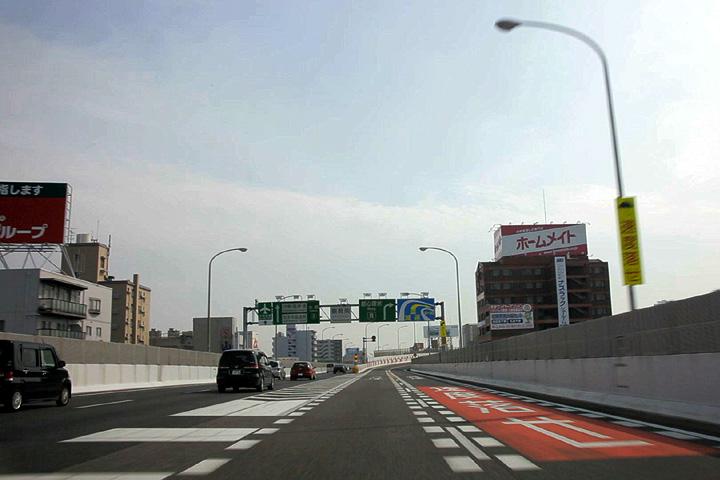 鶴舞南JCT付近