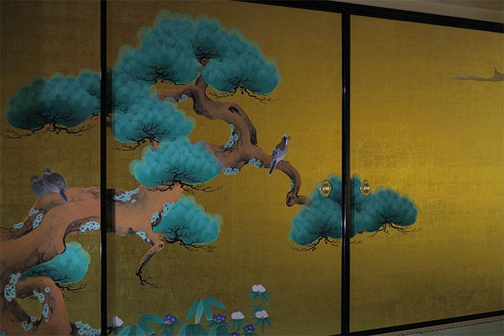 表書院 二之間の障壁画