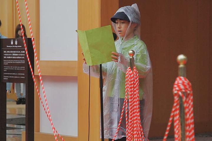 名城小学校6年生代表者の挨拶