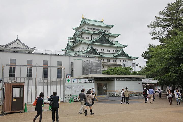本丸御殿二期工事部分と名古屋城