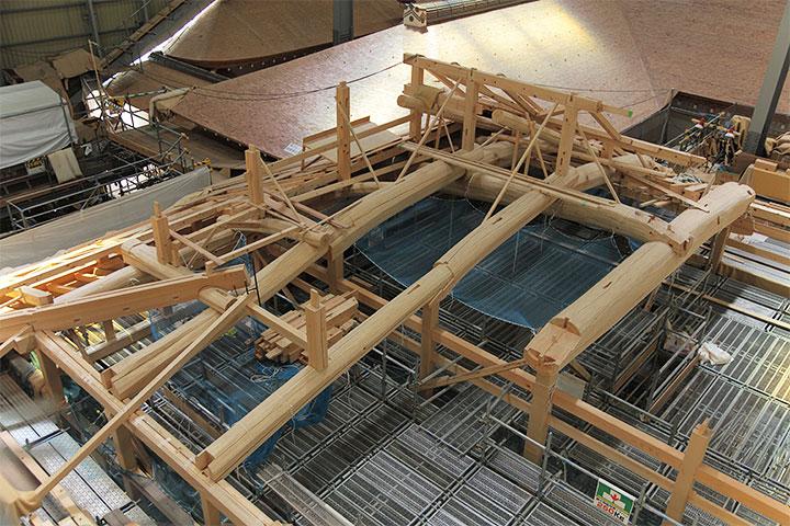 下御膳所の屋根部分