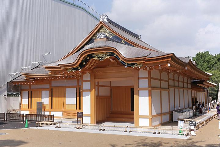 公開中の名古屋城本丸御殿玄関・車寄