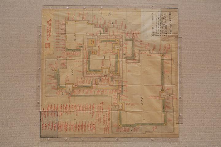 蓬左城極秘図 名古屋市博物館.天守閣2階 特別展「巨大城郭 名古屋城」