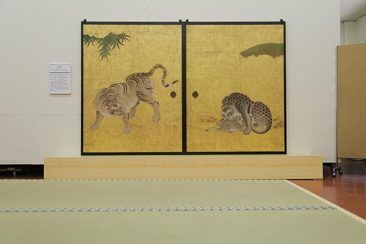 複写した竹林豹虎図