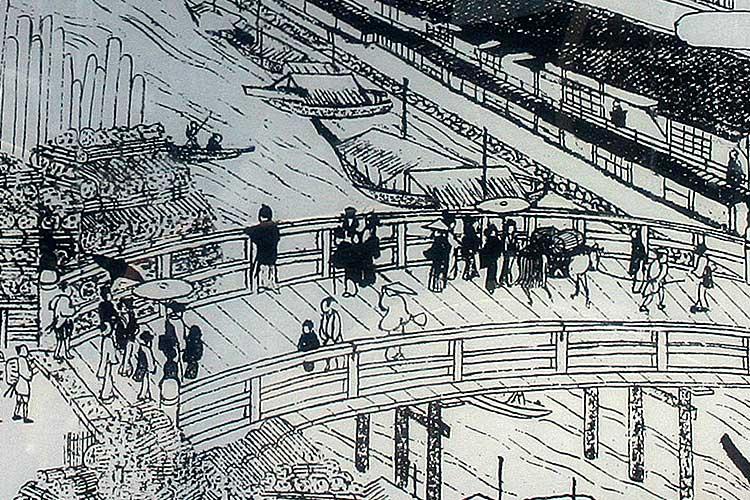 江戸時代の五条橋を説明する案内板