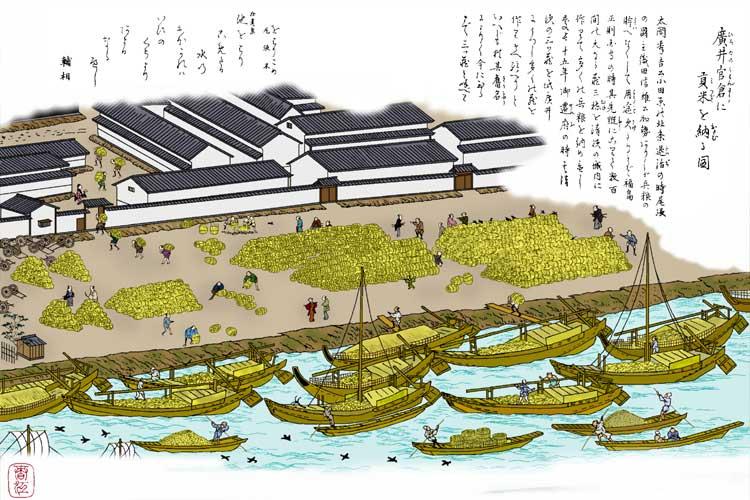 清州城内にあった三つの大きな食糧庫にならい建設された
