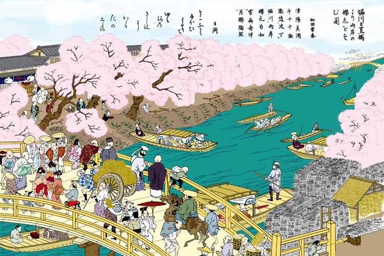 江戸時代は桜の名所