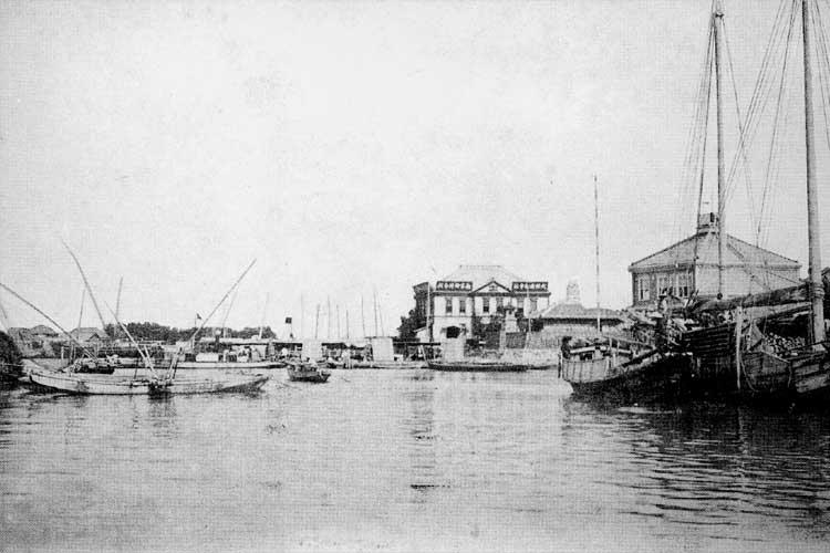 明治時代中頃の熱田港