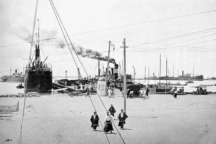開港当時の名古屋港