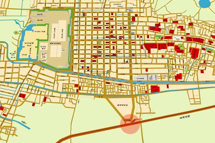 明治20年(1888)頃の名古屋駅(笹島)と名古屋市街地図