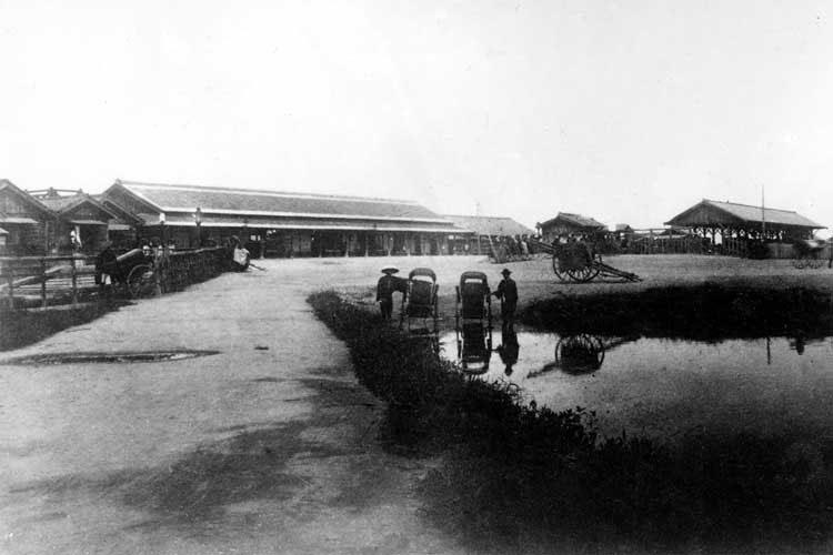 明治19年(1887)開設当時の名古屋駅