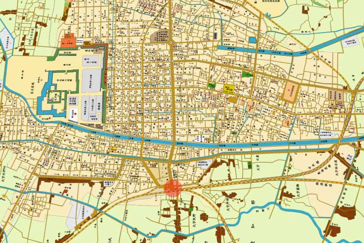 明治時代末期の名古屋駅と市街地図