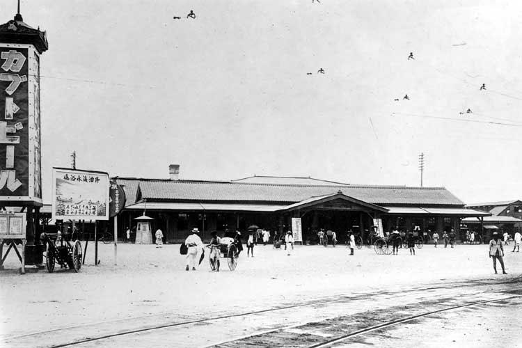 大正時代(1912-1926)初期の名古屋駅前