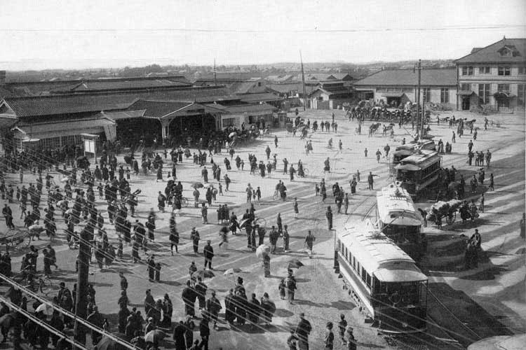 大正時代(1912-1926)中頃の名古屋駅前