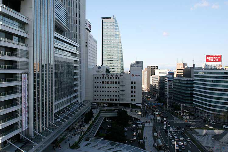 現在の名古屋駅前(2012年)北西方向