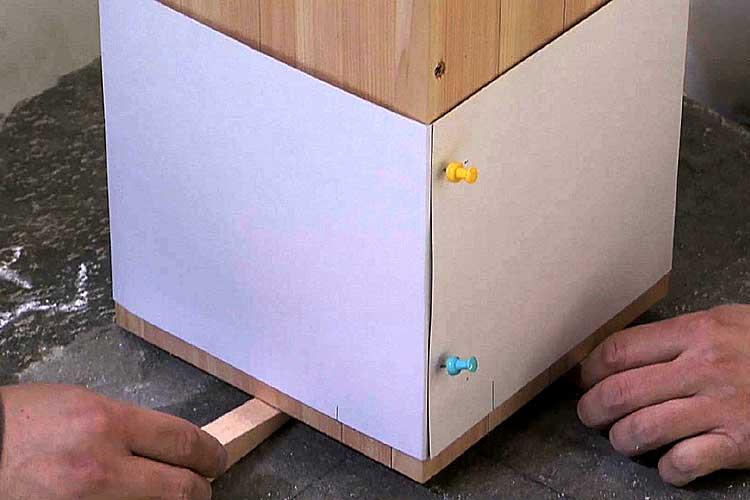 型板を巻いた柱模型