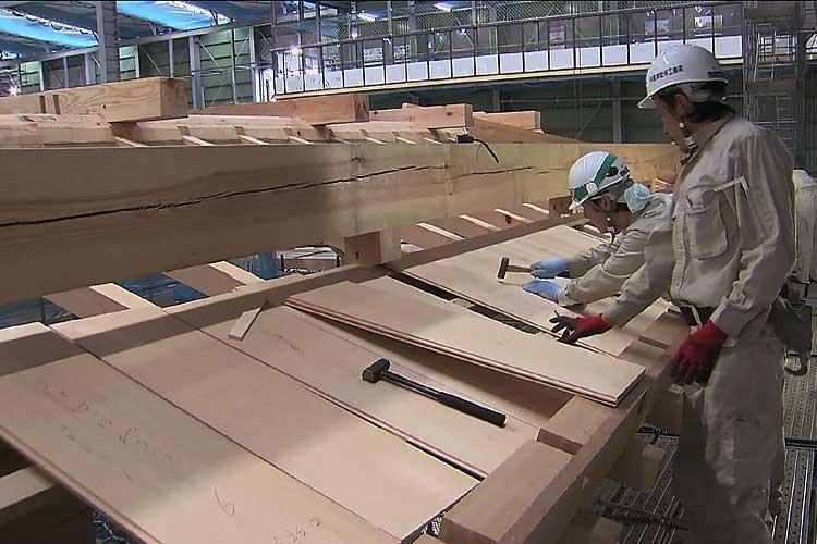 幅30cm厚さ9mmの、ヒノキ材を使用