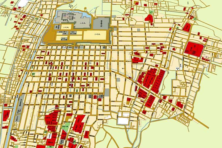 明治10年(1877)頃の名古屋