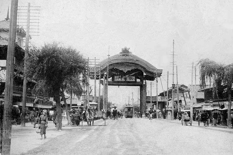 日露戦争戦勝記念広小路凱旋門-明治38(1905)