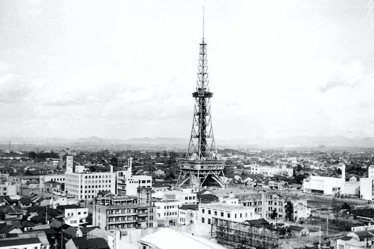 昭和29年(1954)に完成した名古屋テレビ塔