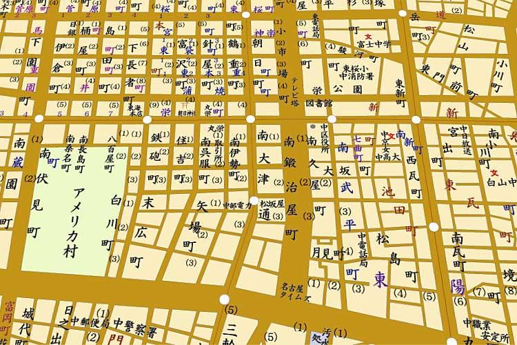 昭和33年(1958)頃の地図