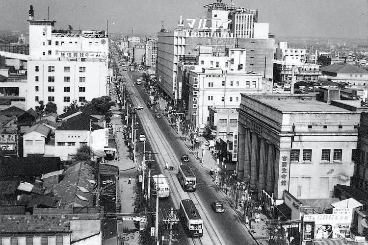 昭和34年(1959)頃の広小路と丸栄百貨店