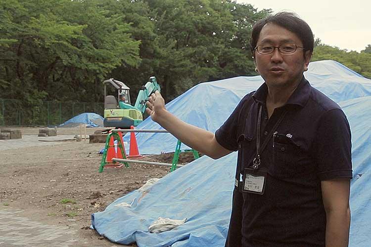 職員による現地説明(尾張名古屋文化の旅の基点)