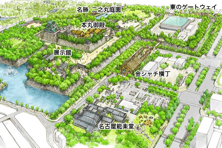名古屋城整備計画完成イメージ図