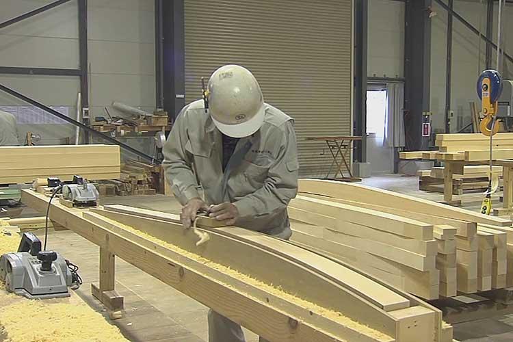 飛檐垂木(ひえんだるき)の加工