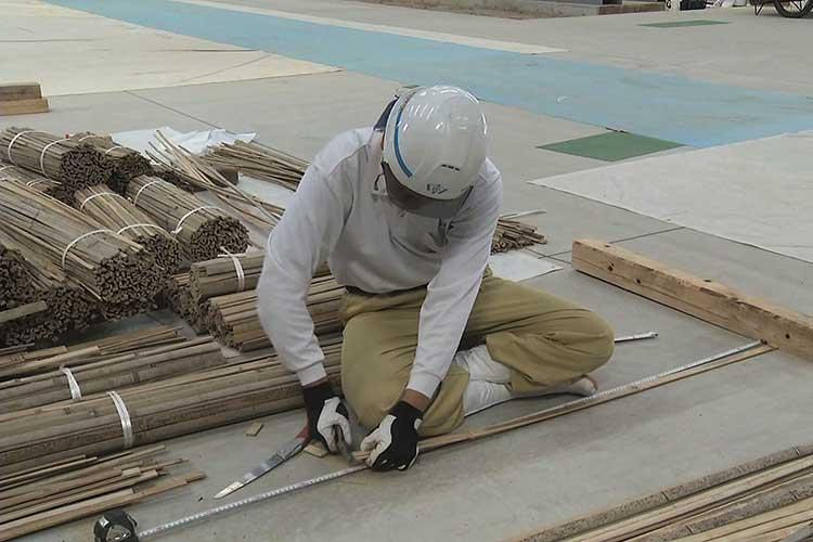 間渡竹と小舞竹の製作