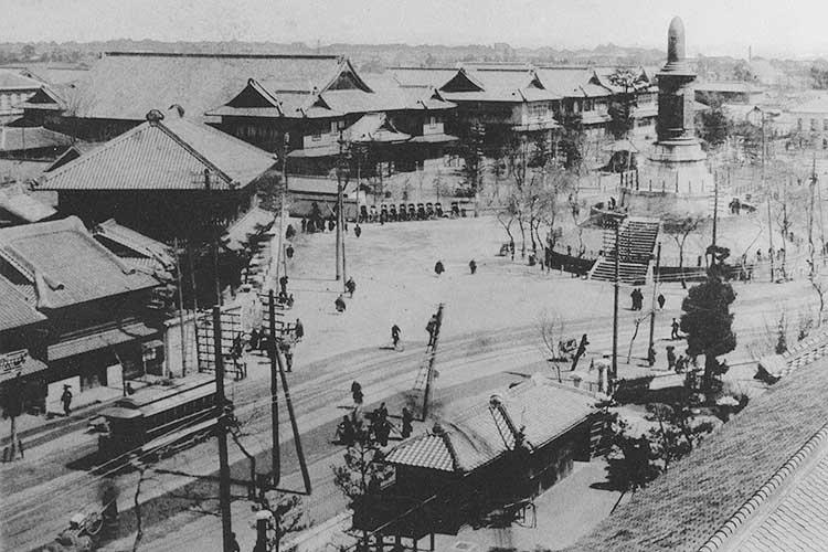 官庁街とロータリー
