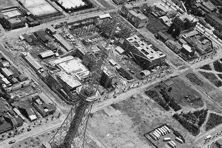 昭和30年代の栄公園周辺
