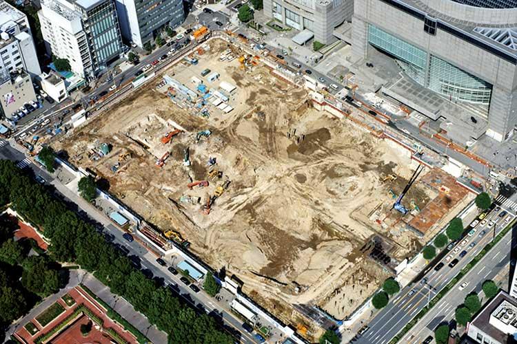 オアシス21建設(平成11年秋)